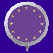 Europa Luftballon aus Folie mit Helium-Ballongas, weißer Rundballon