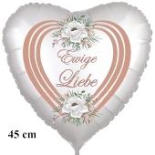 Ewige Liebe. Herzballon zur Hochzeit, Folienballon ohne Helium