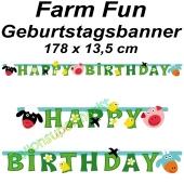 Kindergeburtstagsbanner Farm Fun
