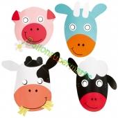 Bauernhof Masken zum Kindergeburtstag