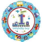 Luftballon aus Folie zum 1. Geburtstag eines Jungen, 1st Birthday Boy