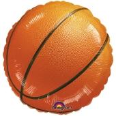 Luftballon aus Folie Baketball, ohne Helium/Ballongas, ungefuellt