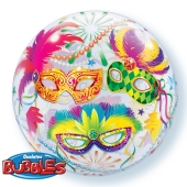 Bubble Masquerade Luftballon mit Helium