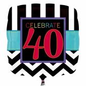 Luftballon zum 40. Geburtstag, Celebrate 40
