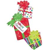 weihnachtsgeschenke, Merry Christmas, Folienballon ohne Helium