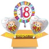 Luftballons aus Folie zum 18. Geburtstag