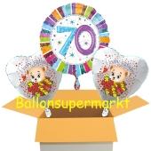 Luftballons aus Folie zum 70. Geburtstag