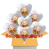 7 Luftballons aus Folie mit Baerchen zum Geburtstag