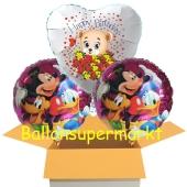 3 Luftballons aus Folie zum Gegurtstag mit Micky Maus, Donald Duck, Pluto und Baerchen