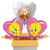 3 luftballon zum Geburtstag mit Tweety