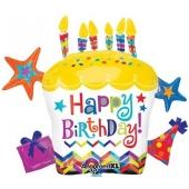 Happy Birthday Cluster Folienballon zum Geburtstag