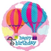 Happy Birthday, luftballon zum Geburtstag mit Heissluftballons