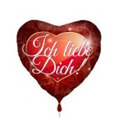 ch liebe dich, Herzluftballon aus Folie