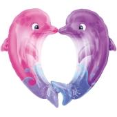 Luftballon kuessende Delfine ohne Helium-Ballongas