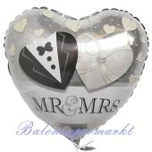 Mr and Mrs, Luftballon aus Folie zur Hochzeit