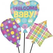 Großer Luftballon aus Folie, Welcome Baby
