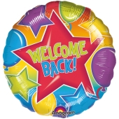 Folienballon Welcome Back ohne Helium