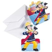 Feuerwehrmann Sam Einladungskarten zum Kindergeburtstag