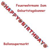 Feuerwehrmann Sam Geburtstagsbanner zum Kindergeburtstag