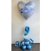 Luftballon-Deko- Kindergeburtstag Wal und Delfin