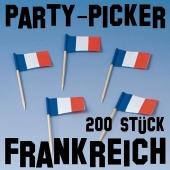 Flaggenpicker Partypicker Frankreich