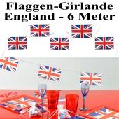 Flaggenbanner Girlande England, 6 Meter, Union Jack