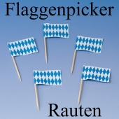 Flaggenpicker Rauten, Oktoberfest Picker, Tischdekoration