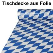 Tischdecke-aus-Folie-20-m-Rolle-100-cm-Dekoration-Bayrische-Rauten