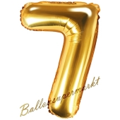 Luftballon Zahl 7, gold, 35 cm