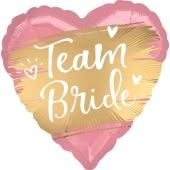 Team Bride, Luftballon aus Folie mit Ballongas Helium zu Hen Night, Hen Party un