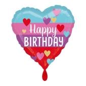 Happy Birthday Rainbow Herz Luftballon aus Folie