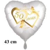 Folienballon 50 Jahre zur Goldhochzeit, inklusive Helium