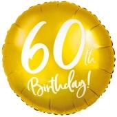 Luftballon zum 60. Geburtstag, Gold ohne Ballongas