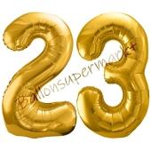 Luftballon Zahl 23, gold, 86 cm