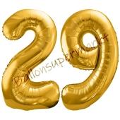 Luftballon Zahl 29, gold, 86 cm