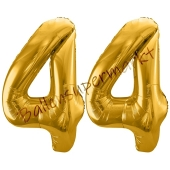 Luftballon Zahl 44, gold, 86 cm