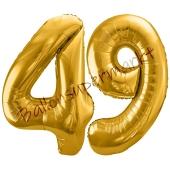 Luftballon Zahl 49, gold, 86 cm