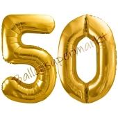 Luftballon Zahl 50, gold, 86 cm