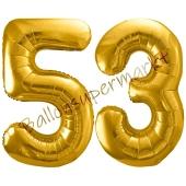 Luftballon Zahl 53, gold, 86 cm