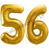 Luftballon Zahl 56, gold, 86 cm