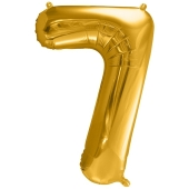 Luftballon Zahl 7, gold, 86 cm