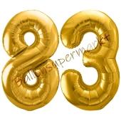 Luftballon Zahl 83, gold, 86 cm