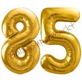 Luftballon Zahl 85, gold, 86 cm