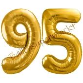 Luftballon Zahl 95, gold, 86 cm