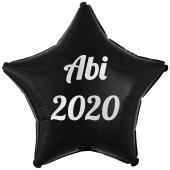 Luftballon Stern Abi 2020, schwarz-weiß, mit Helium Ballongas