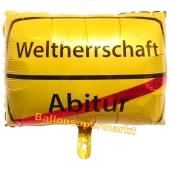 Verkehrsschild, Luftballon zum Abitur mit Ballongas-Helium