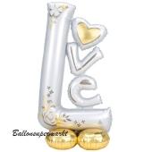Folienballon, AirLoonz, Love , ungefüllt