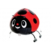 Airwalker Luftballon, Marienkäfer, mit Helium laufender Tier-Ballon