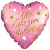 Alles Liebe zum Muttertag, Satin Luxe Luftballon aus Folie mit Helium