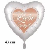 Herzluftballon Alles Liebe zur Hochzeit - Heart, inklusive Helium